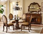 Lavelle Melange Luxury 5 Piece Round Glass Top Dining Room Set by Michael Amini