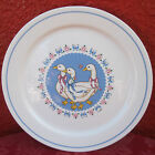 Vintage B&D Ribbon Geese Treasure Craft Bird USA Serving Platter Plate 11.5  ✞