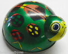 VINTAGE TIN LITHO GREEN LADY BUG BEETLE FRICTION TOY - JAPAN