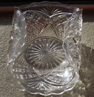 25. VINTAGE CUT GLASS / EAPG PATTERNS / FOLD OVER SIDES CANDY DISH