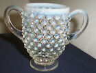 PATTERN MOONSTONE CLEAR OPALESCENT BY ANCHOR HOCKING CHILD SUGAR BOWL ? 3 1/4