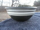 Dansk Stacking Stripe Dove Gray Black White Bands Round Vegetable Serving Bowl