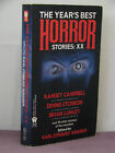 1st signed by 8 Years Best Horror Stories XX 20 ed by Karl Edward Wagner1992