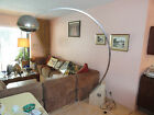 60s CHROME BOOM TELESCOPIC FLOOR LAMP W TRAVERTINE MARBLE BASE CASTIGLIONI ERA