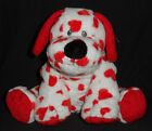 SWEETLY the VALENTINES DOG - TY PLUFFIES - NO HANG TAG - RARE SEWN IN EYES