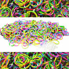 600 TIE DYE Rainbow Color loom refill rubber bands With S Clips new