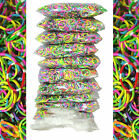 6000 10 x 600 qty TIE DYE Rainbow Color loom refill rubber bands