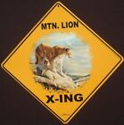 MTN LION X ING Sign aluminum cougar decor cats panther painting novelty home