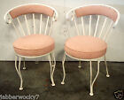 Set of 2 Vintage Antique Wrought Iron Chairs Shabby Chic French Cafe Style