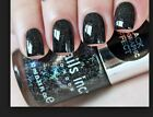 Nails Inc. ~ Special Effects BLACK HOLOGRAPHIC ~ DISCO LANE ~ New (.33 oz)