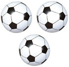3 pk Party Favor 18 INFLATABLE SOCCER BALLS Birthday World Cup Team Pool Toy