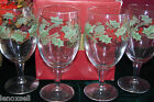 Lenox Holiday Iced Beverage Glass Set of 4 New in Box 1Q