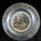 Vintage Metal Bi-Centennial Collectors Plate - The Great American Revolution
