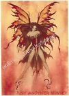 Amy Brown Fire Sprite Faery Fairy Metal Magnet Element