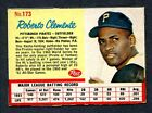 1962 Post Cereal #173 Roberto Clemente - Pittsburgh Pirates