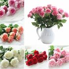 10 20 Heads Real Touch Latex Rose Flowers Bouquet Wedding Party Home Decorations
