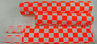 FLITE old school BMX bicycle padset foam racing pads CHECKERBOARD NEON ORANGE