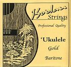 Ukelele strings Koolau Gold baritone G tuning wound 3rd and 4th gold nylon KBS
