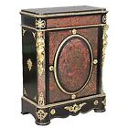 Antique Red Boulle Empire Style Cabinet with Bronze Ladies & Trim #6330