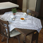New Lovely Antique Vintage White Lace Tablecloth Square 100cmx100cm