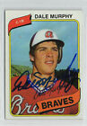 Dale Murphy 1980 Topps signed auto autographed card Atlanta Braves