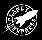 Futurama Planet Express Logo sticker decal - (Fry Leela Bender Zoidberg)