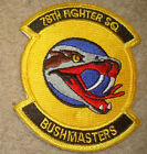 USAF PATCH, 78TH FIGHTER SQUADRON,,WITH VELCRO x