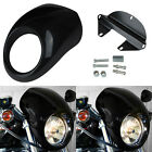 Black Front Headlight Fairing Cowl Mask For Harley Sportster Dyna Glide FX XL