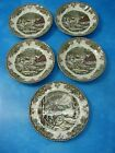 4 Mint Vtg Johnson Bros Friendly Village Saucers + 1 Bread & Butter Plate