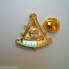 Golden Masonic  Past Master  Large Pin