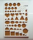 Paper Quilling Board Papercraft Tool Circle Template Board 1pc