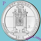 2010 P HOT SPRINGS NATIONAL PARK AR QUARTER UNCIRCULATED FROM US MINT