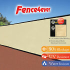 Tan Beige 6x50 Fence Privacy Screen Windscreen Shade Cover Mesh Fabric Outdoor