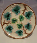 Antique Majolica Griffin Smith & Hill Maple Leaf Etruscan Compote Plate Server