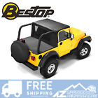 Bestop Halftop w/ Bikini Windjammer Duster Blk Denim For 92-95 Jeep Wrangler YJ