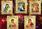 Nativity Scene Madonna  Child Jesus Christ can be Christmas Ornaments 5 Angel