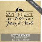 Unmounted Personalized Custom Name Save The Date Wedding Rubber Stamp RE718