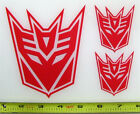 Transformers Decepticon Set of 3 HQ Single Color Red Vinyl Sticker Decal