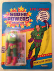 Vintage 1984 Kenner Super Powers Action Figure LEX LUTHOR ON UNPUNCHED CARD