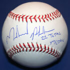 Michael Phelps 22 Total Medals USA Olympics Swimmer Signed Auto OML Baseball JSA