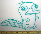 Perry the Platypus Full Figure HQ Single Color Turquoise Vinyl Sticker Decal