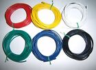 30 18 Gauge AWG Ga Black Red Yellow White Green Blue Car Alarm Primary Wire 12V