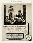 1923 AD Rogers and Son silverplate Lincoln Pattern-Meyers art