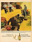 Seagram's V.O. Canadian whisky-business over lunch VINTAGE AD FREE SHIPPING