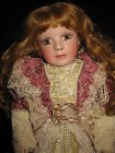 JANIS BERARD VICTORIAN EMILY ROSE FULL BODY PORCELAIN AND MOVING DOLL 19""