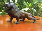 ANTIQUE JAPANESE MEIJI ERA ARTIST SIGNED BRONZE LION STATUE / OKIMONO