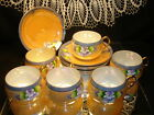 Luster Ware Japan Vintage Cups Saucers Antique Collectible Porcelain Tea Coffee