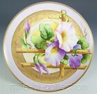 LOVELY LIMOGES PICKARD HAND PAINTED MORNING GLORY PLATE