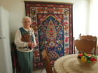 Antique Large Wall Tapestry Cross Stitch - Pakistan  perhaps