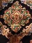 New Vintage Bed Skirt Dust Ruffle Twin Royal Family  Black gold Green